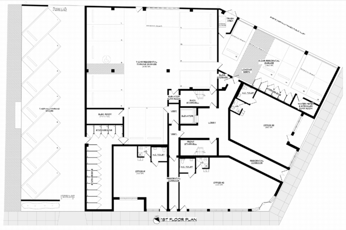 Developments oakley pointe koenigrubloff for Commercial garage plans